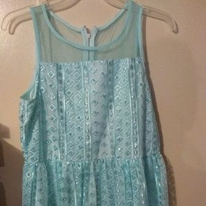 Justice teal sequin dress size 20plus